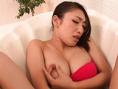 Extra sinnliches Masturbations-Solo von Jap-Sexbombe Reiko Kobayakawa