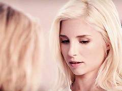 Blonde teenager Jessa Rhodes und Piper Perry Essen jeweils anderen Fotzen