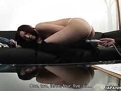Schüchtern amateur Kurara wird gefickt und Cremiges Sperma beim porno casting